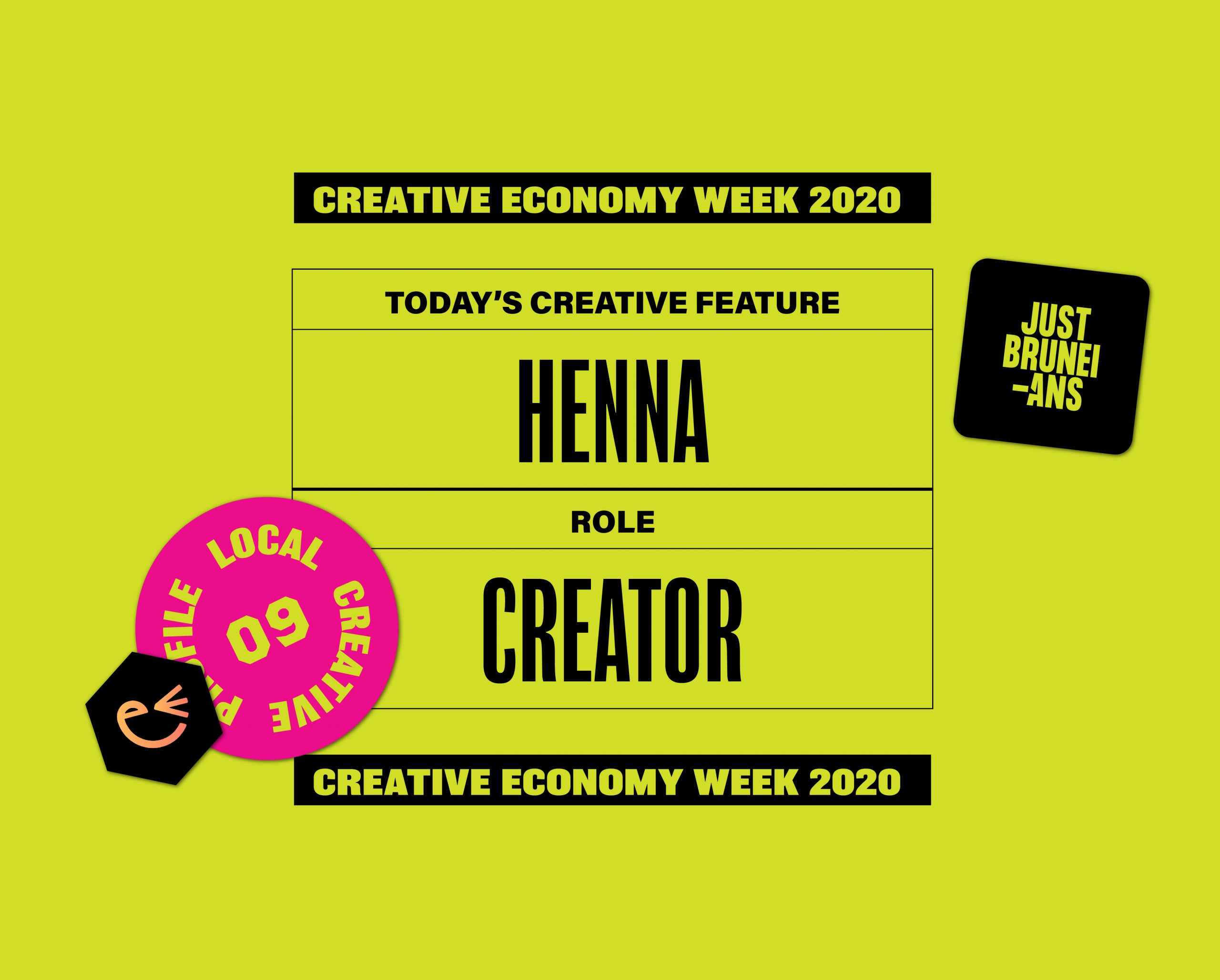 Today's Creative Feature: Henna | Creative Economy Week 2020